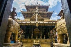 Guld- tempel Patan Arkivbild