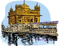 Guld- tempelvektorillustration för designer vektor illustrationer