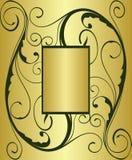 guld- text för bakgrund Arkivbild