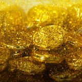 guld- textur arkivfoto