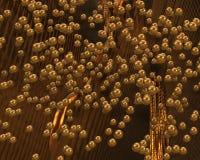 Guld- textur/bakgrund Fotografering för Bildbyråer