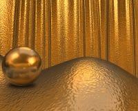 Guld- textur/bakgrund Royaltyfri Bild