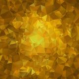 Guld- textur för abstrakt triangel Arkivbilder