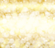 Guld- textur för metallfolie med bokeheffektbakgrund Royaltyfri Fotografi