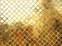 Guld- textur för mosaisk tegelplatta royaltyfri bild