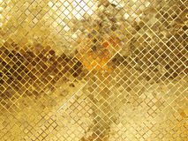 Guld- textur för mosaisk tegelplatta royaltyfri foto