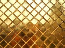 Guld- textur för mosaisk tegelplatta arkivfoton