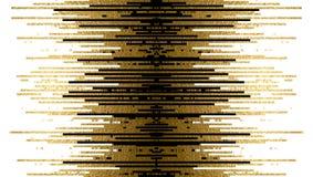 Guld- textur- och svartlinjer garnering på den vita bakgrunden stock illustrationer