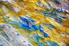 Guld- textur, vaxartad abstrakt bakgrund, livlig bakgrund för vattenfärg, textur Royaltyfria Bilder