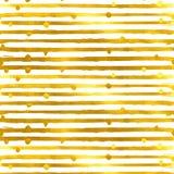 Guld texturerad sömlös modell av guld- band stock illustrationer