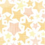 Guld- texturerad sömlös modell för stjärnor textil Royaltyfri Bild