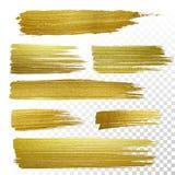 Guld texturerade målarfärgslaglängder Royaltyfri Fotografi