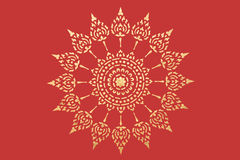 guld- thai modellstil Arkivbilder