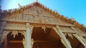 Guld- thai tempel Fotografering för Bildbyråer