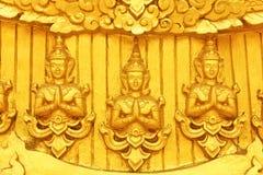 Guld- thailändsk modell Royaltyfri Bild