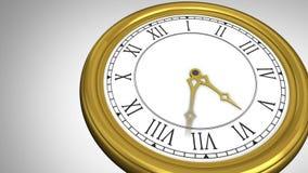 Guld- ticka för klocka för roman tal vektor illustrationer