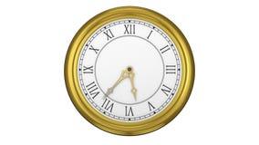 Guld- ticka för klocka för roman tal stock illustrationer