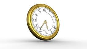 Guld- ticka för klocka för roman tal royaltyfri illustrationer