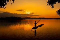 Guld- timmar solnedgångsikt Arkivfoton