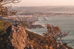 Guld- timme i Trieste Italien Royaltyfri Foto
