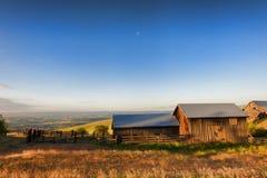 Guld- timme på Dallas Mountain Ranch på den Columbia Hills staten Arkivfoto