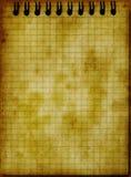 guld- tonad vinage för grunge anteckningsbok Royaltyfri Bild