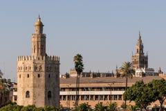 Guld- torn av Seville Andalucia, Spanien Royaltyfri Fotografi