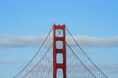 guld- torn för broport Arkivbilder