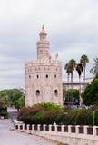 Guld- torn i Seville Royaltyfria Foton