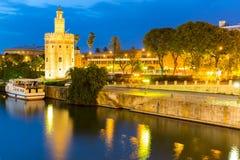 Guld- torn Seville Royaltyfria Foton