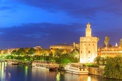 Guld- torn (Torre del Oro) av Seville, Andalusia, Royaltyfri Bild