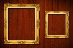 guld- trä för ram Royaltyfri Bild