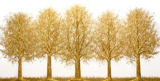 Guld- träd royaltyfri fotografi