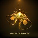 Guld- träd X-mas för berömmar för glad jul Arkivfoto