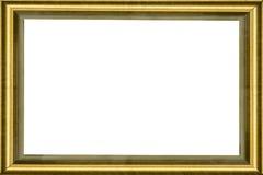 guld- trä för klassisk ram Arkivbilder