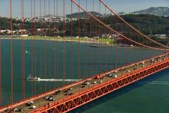 guld- trafik för broport Royaltyfri Bild