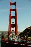 guld- trafik för port Arkivbild