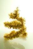 guld- tree för jul arkivfoto