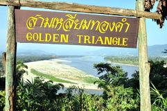 guld- triangel Royaltyfri Bild