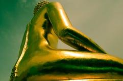 Guld- triangel för Buddha Royaltyfri Fotografi