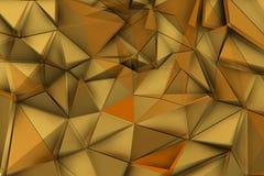 Guld- trianglar i vibrerande miljö Arkivfoton