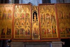 guld- triptych Royaltyfri Bild