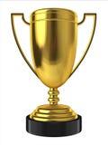 guld- trofé Royaltyfri Fotografi