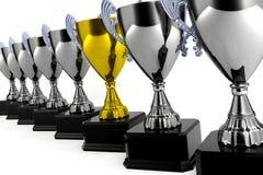 guld- trofé Fotografering för Bildbyråer
