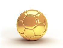 Guld- trofé för fotbollboll Vektor Illustrationer