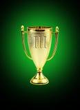 guld- trofé för kopp Arkivfoto