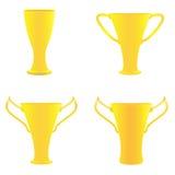 Guld- troféer för mästare Arkivbild