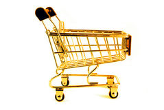 guld- trolley Arkivfoto
