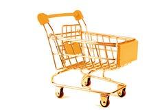 guld- trolley Arkivfoton