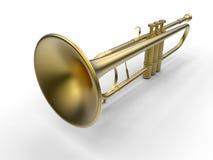 guld- trumpet stock illustrationer